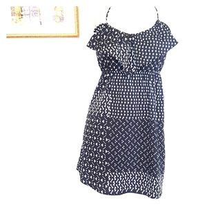 Roxy size small geometric midi dress in black